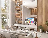 SFN Arquitetura - Sala de Estar (Casa B220)