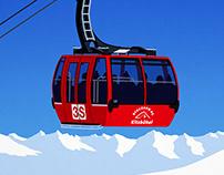 Kitzbuhel Ski Resort 3s Gondola Poster
