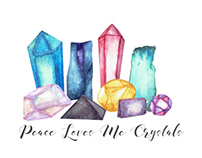 Peace Loves Me Crystals Logo