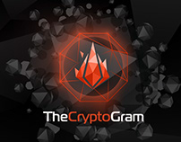 "Landing page mobile app ""TheCryptoGram"""