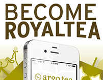 Argo Tea mobile app collateral