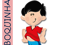 Ilustração Boboquinha e sua turma.
