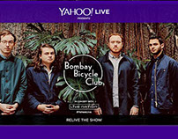 Yahoo and Live Nation web banners