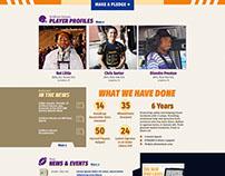 Gridiron Heroes - football web design