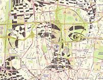 Human Cartography: Sadegh Hedayat / Tehran / Paper Cut