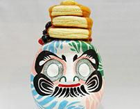 honey and butter pancakes daruma/はちみつとバターのパンケーキ