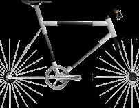 Steel and carbon fiber bike concept