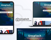 Unsplash web site and app redesign