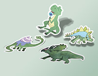 "Sticker pack ""Sweet Dinos"""
