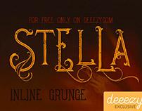 Free Font - Stella Inline Grunge