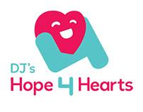 DJ's Hope 4 Hearts - logo design