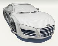 Audi R8 - 3D Model WIP