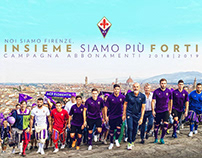 • ACF Fiorentina 2018/19 season tickets campaing •