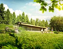 Earth Sheltered House. Borisko, Slovakia, Europe