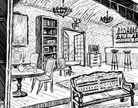 Lofthall facad cuts and interiors