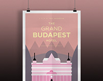 Posters of classic movies and series in minimal style