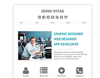 Vitae - Online vCard and Resume Website Concept