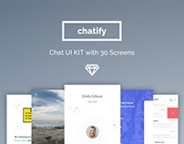 Chatify - Chat / Messenger app UI Kit for iOS Mobile