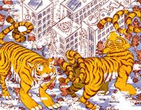 Big cats and illustrations