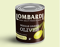 Lombardi. Canned olives