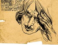 Illustrations to novel about Nikolai Gogol [4].