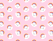 Cute rainbow pattern