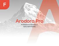ARODORA PRO LIGHT - FREE GEOMETRIC FONT