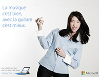 Advertising Surface Pro 3 Microsoft