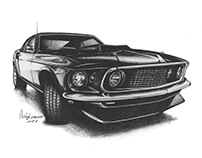 Ford Mustang - Sketch
