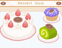 p5.js dessert clock