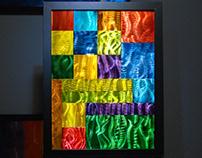 """Prism Blox - etched aluminum - 18"""" x 24"""""""