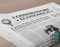 Editorial design for L'Osservatore Economico Magazine