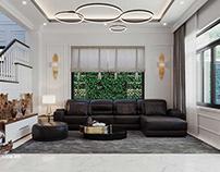 Thiết kế nội thất biệt thự tân cổ điển 4 tầng 7x15m