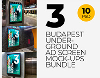 Budapest Underground Ad Screen Mock-Ups Bundle