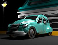 3D Model Car Maya Autodesk