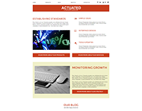 Actuated Content Rich Website Concept