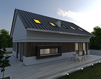 Dom nowoczesny D03 Grzybowo