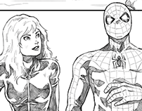 Black Widow / Spiderman (comic sample)