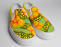 Spingtime Vans Shoes Textile Design