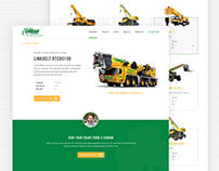 JJ Curran Crane Rental Website Design