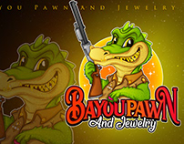mascot logo bayoupawn