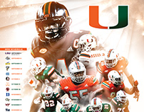2018 Miami Hurricanes Football Poster