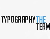 Typography - Motion Graphics