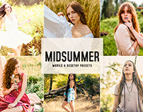 Free Midsummer Mobile & Desktop Lightroom Presets