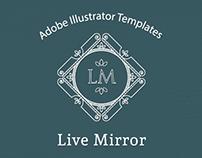 Live Mirror Illustrator Templates Bundle
