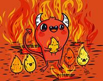 """Day 27 Of #mabsdrawlloweenclub """"lil devil"""""""