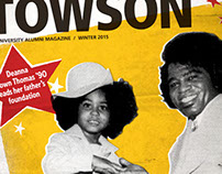 Magazine Cover: Towson University Alumni Magazine