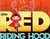 Little Red Riding Hood vintage inspired poster