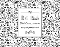 Christmas black&white illustrations