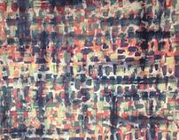 Music Shuffle- Process painting